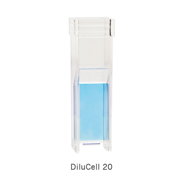 DiluCell-20-by-implen-blue-product automatic dilution, Cell Density, Bacterial Growth, Yeast Growth