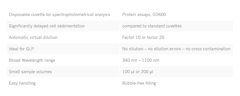 implen-DiluCell-dilution-concentrated-samples-cuvette-spectrophotometers-table