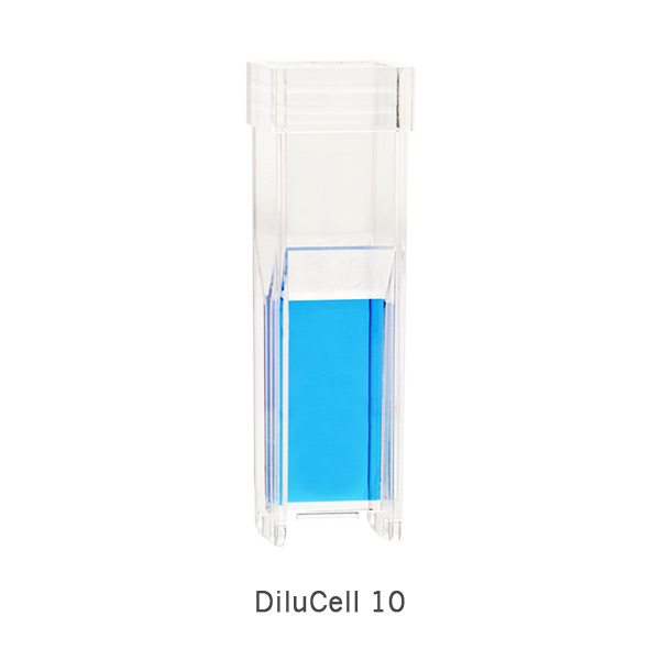 DiluCell-10-by-implen-blue-product automatic dilution, Cell Density, Bacterial Growth, Yeast Growth