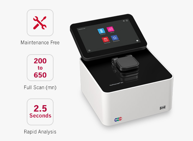 N50-GO-maintenance-free-spectrophotometer-NanoDrop Alternative implen-nanophotometer-spectrophotometer-g