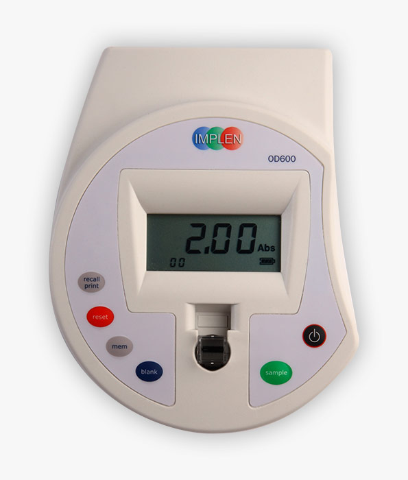 implen-diluphotometer-OD600-GO-best-in-its-class-Cell Density, Bacterial Growth, Yeast Growth
